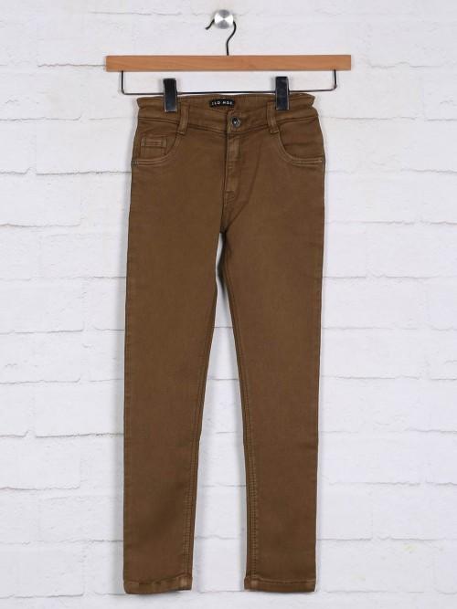 Stilomoda Brown Denim Casual Jeans