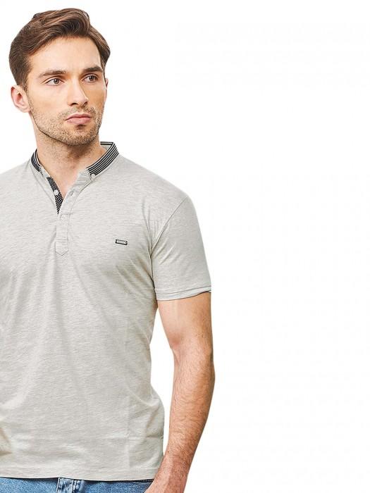 Stride Light Grey Casual Wear T-shirt