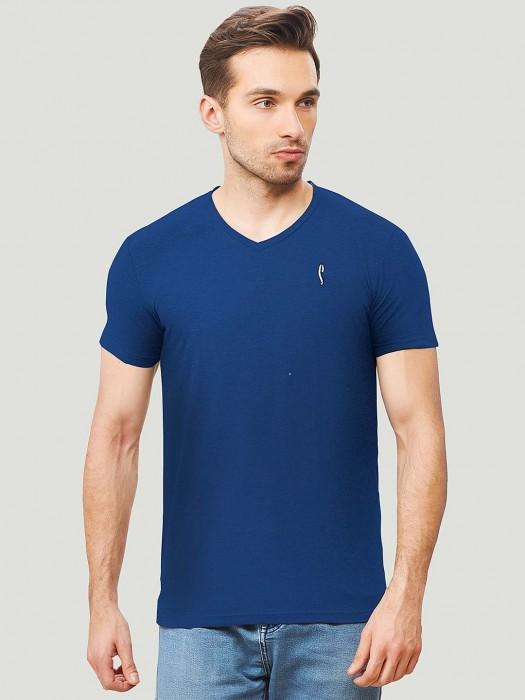 Stride Royal Blue Hue Solid Mens T-shirt