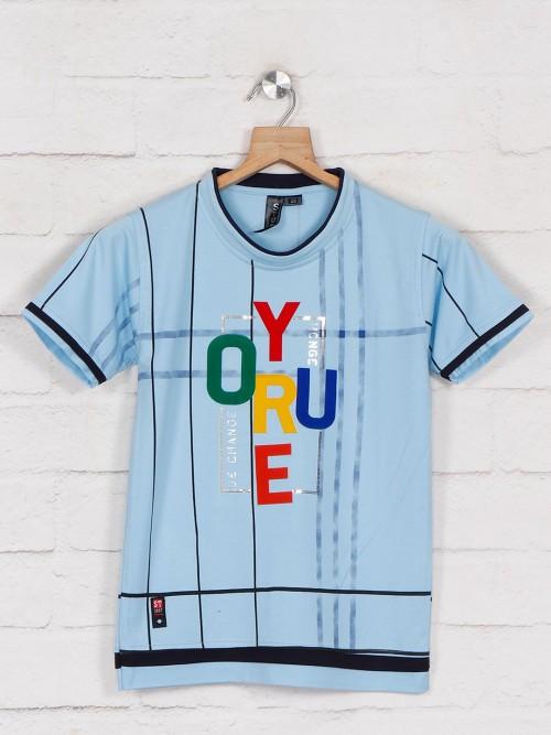 Sturd Printed Blue Casual T-shirt
