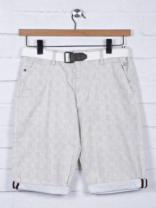 TYZ Grey Printed Cotton Fabric Short
