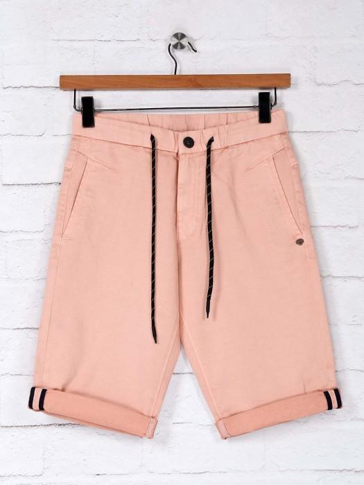 TYZ Peach Cotton Solid Short