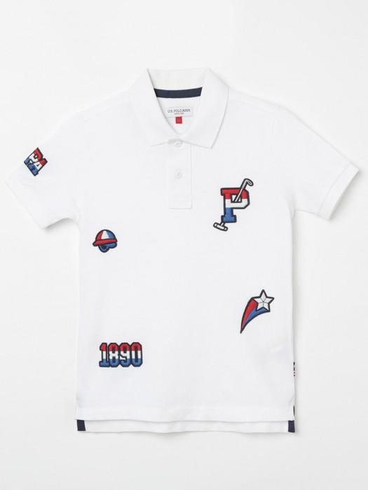 U S Polo Assn White Thread Weaving T-shirt