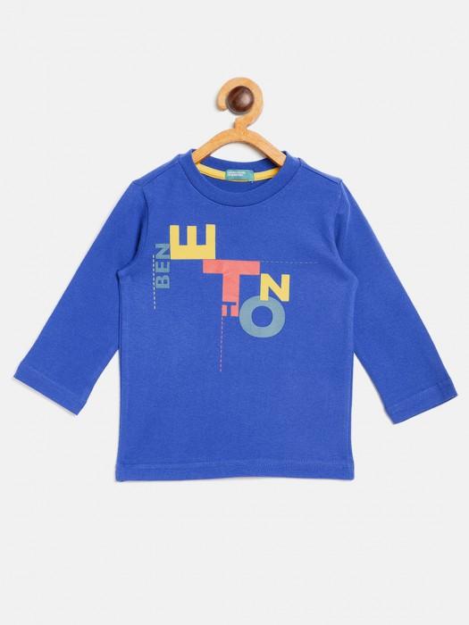 UCB Blue Printed Pattern T-shirt
