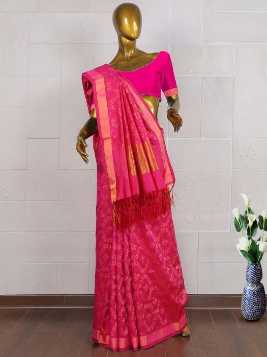 Wedding Wear Magenta Pure South Silk Saree