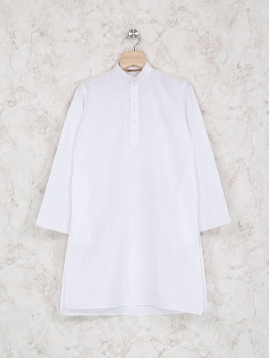 White Color Festive Wear Kurta Suit