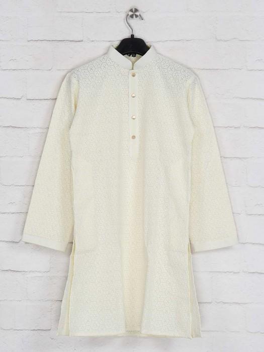 Yellow Georgette Festive Kurta Suit
