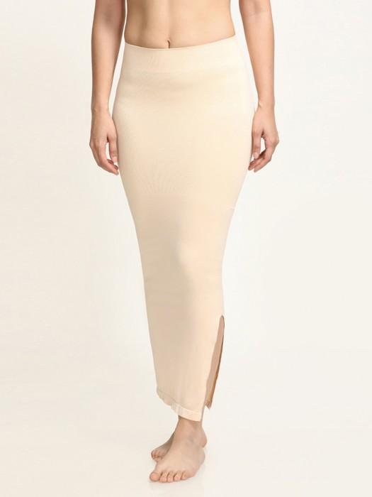 Zivame Saree Shape Wear Skin Lycra Side Slit Petticoat