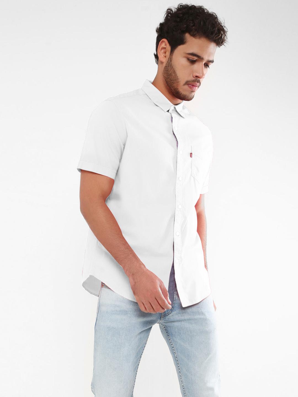 4085b242a34 Levis solid white slim fit shirt - G3-MCS6312 | G3fashion.com