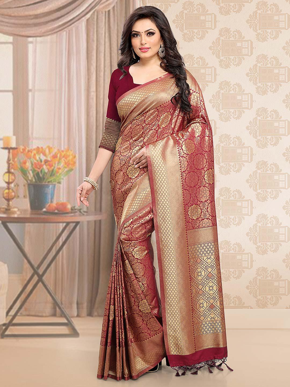 Maroon hued beautiful wedding saree - G3-WSA35516 | G3fashion ...