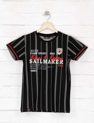 99 Balloon black hue stripe fashionable t-shirt