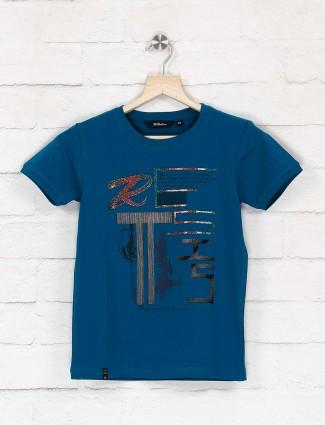 99 Balloon blue printed half sleeves t-shirt