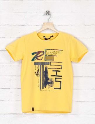 99 Balloon bright yellow printed t-shirt