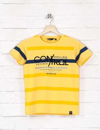 99 Balloon bright yellow stripe t-shirt
