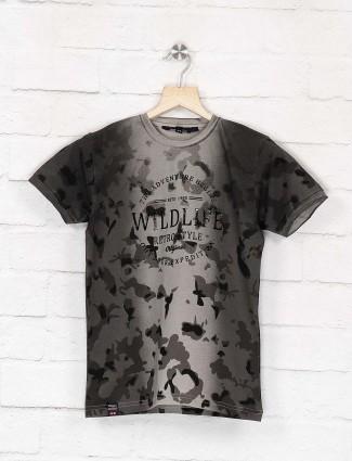 99 Balloon dark grey camouflage printed t-shirt