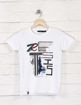 99 Balloon printed white color cotton t-shirt