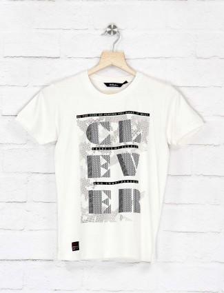 99 Balloon white printed cotton fabric t-shirt