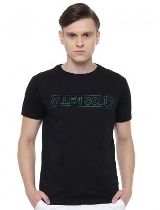 Allen Solly黑色圆领印花T恤