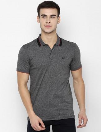 Allen Solly dark grey solid t-shirt