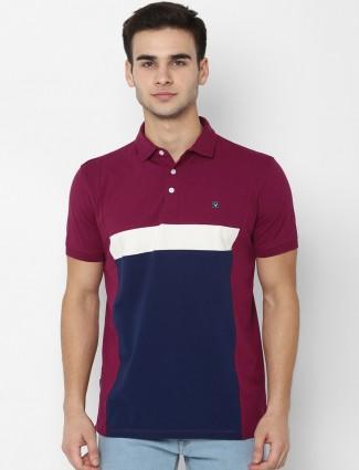 Allen Solly maroon cotton t-shirt