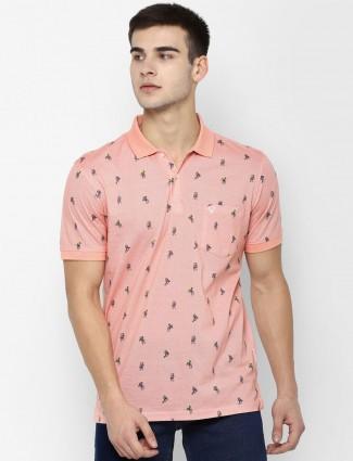 Allen Solly printed peach t-shirt