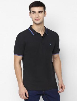 Allen Solly simple black mens t-shirt
