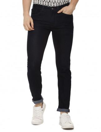 Allen Solly solid dark navy skinny fit jeans