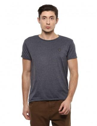 Allen Solly solid grey mens t-shirt
