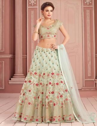 Aqua net designer wedding wear lehenga choli