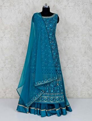 Aqua net double layer salwar suit