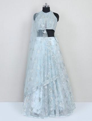Aqua net reception wear lehenga choli for women