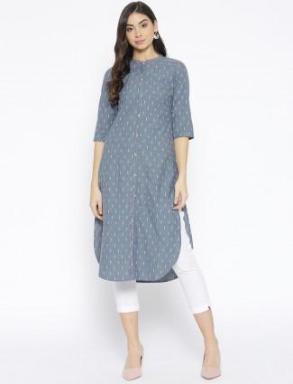 Aurelia grey color cotton fabric casual kurti
