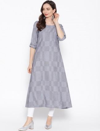 Aurelia grey hue gorgeous casual kurti