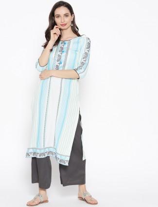 Aurelia off white cotton casual kurti