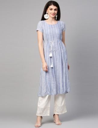 Aurelia stripe blue casual kurti