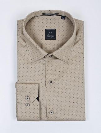 Avega beige formal wear printed shirt