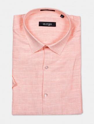 Avega cut away collar pink stripe shirt