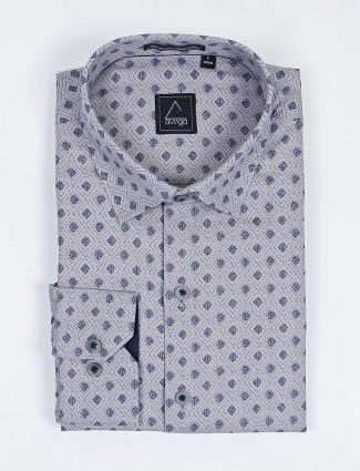 Avega grey hue cotton formal wear shirt