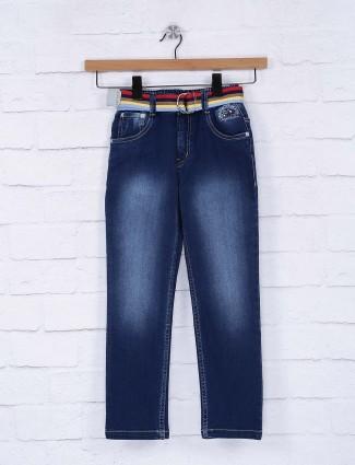 Bad Boys blue color solid jeans