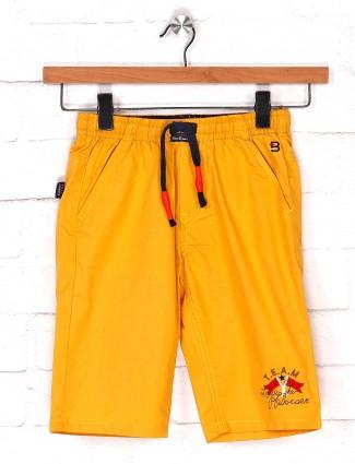 Bad Boys cotton casual short in mustard yellow