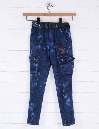 Bad Boys royal blue printed kargo trouser