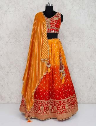 Beautiful red wedding lehenga choli