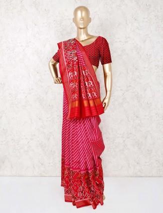 Beautiful wedding wear magenta saree