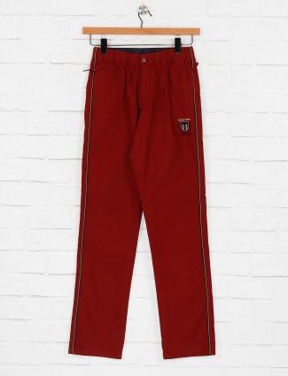 Beevee slim fit red colored track pant