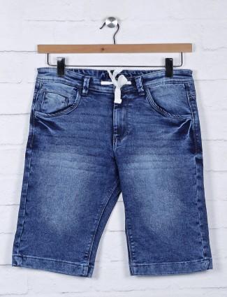 Beevee solid blue hue denim shorts
