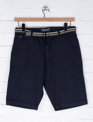 Beevee solid navy hue casual shorts