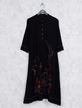 Black color nice kurti in cotton