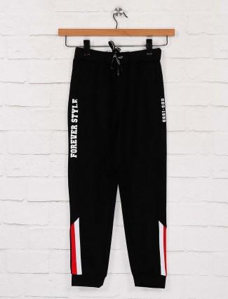 Black color solid cotton payjama