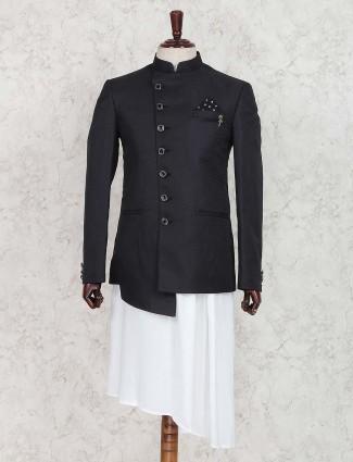 Black color textured pattern indo western