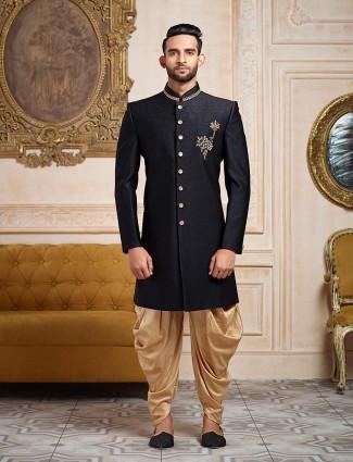 Black color wedding wear mena indo western